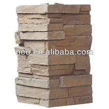 PU stone corner, 3d wall panels corner,ledge corner
