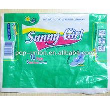 POP-UNION/Lady sanitary napkins with high quality