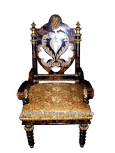 Best Quality Antique Inlaid Panel Wooden Dinning Chairs