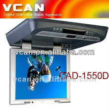 15 inch roof mount monitor car dvd player 1024x728 pixels with built in IR CAD-1550D-1