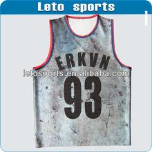 custom mesh Basketball clothes high quality big hole