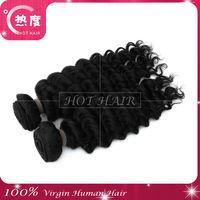 100% Brazilian human hair extension virgin brazilian deep curl human hair made in china
