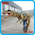 Lo más popular, silicona, disfraz de dinosaurio de caucho para adulto