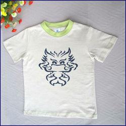 Custom Korea children t-shirt, 100% cotton kid wear