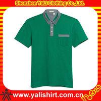 2015 high quality short sleeve plain 100% cotton pocket polo shirts super plus size clothing