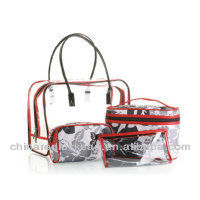 clear plastic zipper cosmetic bags