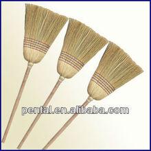 Household Corn Broom With Wooden Handle
