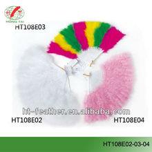 fashion dancing colorful feather fan