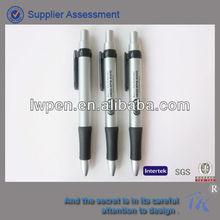 Promotional fat barrel plastic pen with rubber grip