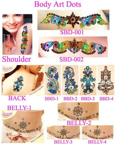 Body art jewelry tattoos