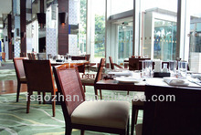 AZ-K76 5 star hotel furniture dining room furniture wood made modern square dinng tables and chairs