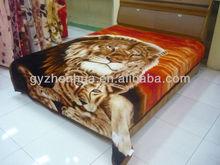 new design rachel tiger printing red blanket