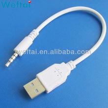 car audio aux 3.5mm usb cable audio jack adapter