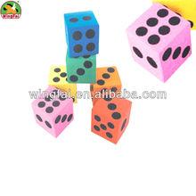 assorted color EVA foam dice