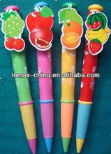 Fruit Jumbo plastic ball pen for promotion