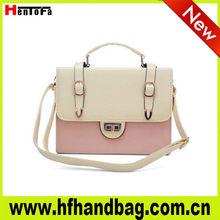 2013 Popular elegance handbags with double belt buckle