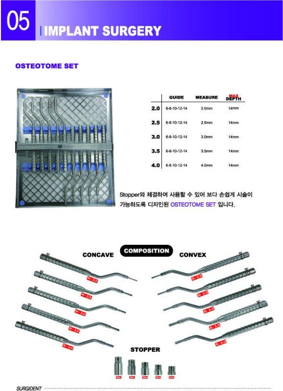 OSTEOTOME SET