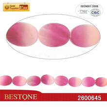 2013 Fashion Fluorescence Rose&Pink Dyed Lentil Shell Beads