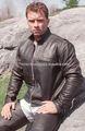 Novo estilo mais recente homens de moto jaqueta de couro tamanho Extra grande