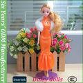 O mais belo vestido de festa para a menina boneca 11.5 polegadas