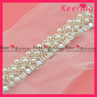 beaded bridal decorative lace trimmings WTP-1171