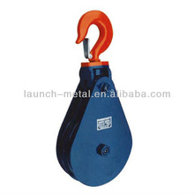 H408 Pulley Light Type Champion Snatch Block Double With Hook