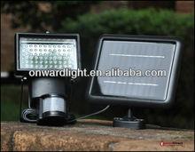 60LED solar PIR security light solar sensor light