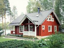 prefab wood house log-113