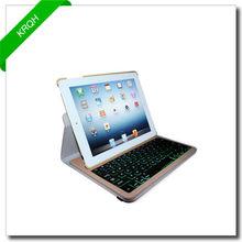 LED bluetooth keyboard folio Case for iPad Mini