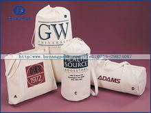 hot sale white mini eco cotton drawstring gift bag