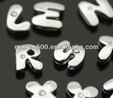 Free Shipping Alphabet Slider Letter Beads
