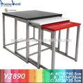 simples sala de madeira top mesa final metal jogos de mesa