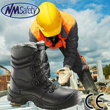 NMSAFETY 2013 work men boots sale high heel steel toe shoes