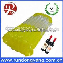 red wine bottle safe plastic air bubble bag