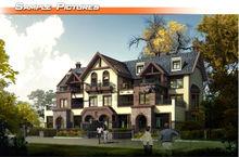 Pretty villa cad drawings providers