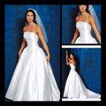 الجديد وصول 2013 بسيطرخيص ألف خط قبالة الكتف فستان الزفاف الأبيض التفتا عادي تحت 100 jj0239 تجار الدولار