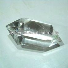 Natural doble terminado cristales, Poliedro claramente cristal de cuarzo puntos