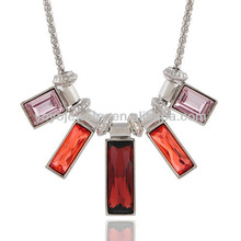 N306 Hot sale necklaces jewelry summer fashion channel fashion jewelry necklace crystal square pendant necklace