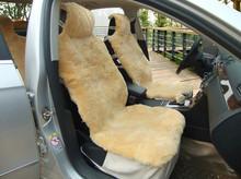 Plain design sheep fur car seat covers