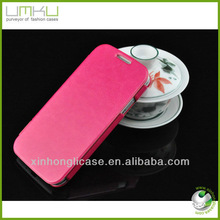 Various colors beautiful design pu leather cell phone case for samsung galaxy s4