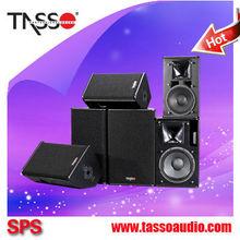 2015 última madera de madera caja del altavoz etapa audio sound system + cvr de audio profesional