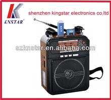 Tf micro sd music player fm radio usb mini speaker
