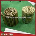clôture de jardin en bambou bordure
