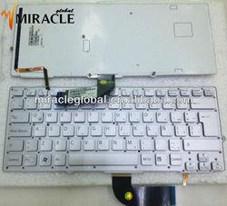 Laptop Keyboard for SONY backlight 9Z.N6BLF.101 LA layout silver