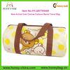 Weekender large capacity barrel-type bag durable canvas Travel Bag cute cartoon print duffel bag