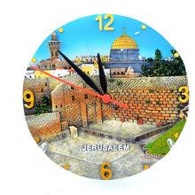 recuerdo polyresin reloj decorativo israel jerusalén sagrada tierra de recuerdos