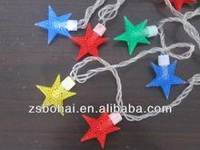 2014 led decorative plastic starswaterproof 5m 40 stars