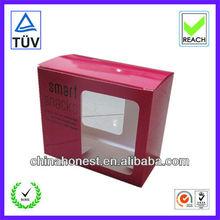 Custom packaging for socks, snacks packaging boxes, clear window packaigng box
