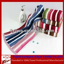 colorful stripe cotton towel beach