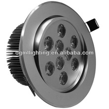 9W led down light dimmable daylight white 4000k cut-out115mm